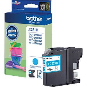 Tinte - Brother - cyan - LC221 - original BROTHER LC221C