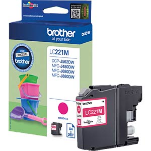 Tinte - Brother - magenta - LC221 - original BROTHER LC221M