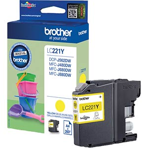 Tinte - Brother - gelb - LC221 - original BROTHER LC221Y