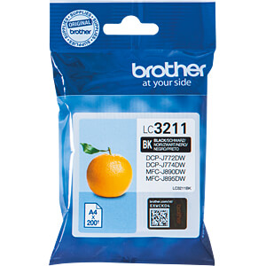 Tinte - Brother - schwarz - LC3211 - original BROTHER LC3211BK