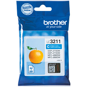 Tinte - Brother - cyan - LC3211 - original BROTHER LC3211C