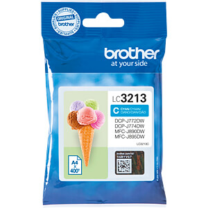 Tinte - Brother - cyan - LC3213, - original BROTHER LC3213C