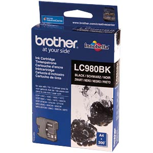 Tinte - Brother - schwarz - LC980 - original BROTHER LC980BK