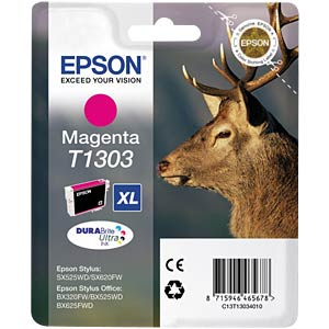 Magenta: Stylus SX525/WF-7015 EPSON C13T13034012
