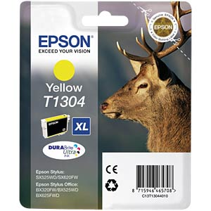 Tinte - Epson - gelb - T1304 - original EPSON C13T13044010