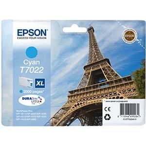 Tinte - Epson - cyan - T7022 - original EPSON C13T70224010