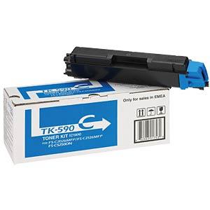 Toner - Kyocera - cyan - TK-590 - original KYOCERA 1T02KVCNL0