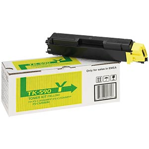Toner - Kyocera - gelb - TK-590 - original KYOCERA 1T02KVANL0