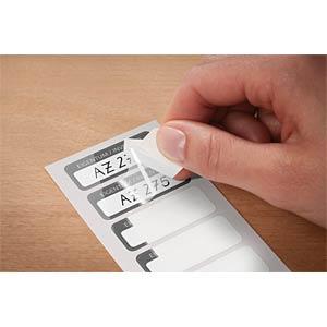 Inventar-Etiketten, aus Laminat, 50 x 20 mm, 50 Stück, schwarz AVERY ZWECKFORM 6901