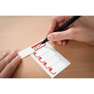 Inventar-Etiketten, aus Laminat, 50 x 20 mm, 50 Stück, rot AVERY ZWECKFORM 6902