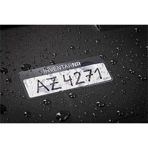 Inventar-Etiketten, wasserfest, 50 x 20 mm, 50 Stück, schwarz AVERY ZWECKFORM 6905
