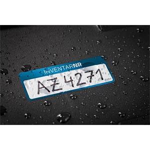 Inventar-Etiketten, wasserfest, 50 x 20 mm, 50 Stück, blau AVERY ZWECKFORM 6906