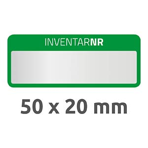 Inventar-Etiketten, wasserfest, 50 x 20 mm, 50 Stück, grün AVERY ZWECKFORM 6908