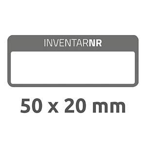 Inventar-Etiketten, wasserfest, 50 x 20 mm, 50 Stück, schwarz AVERY ZWECKFORM 6917