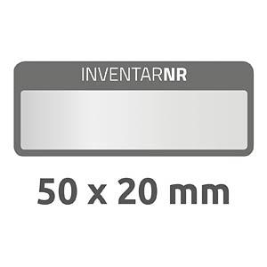 Inventar-Etiketten, wasserfest, 50 x 20 mm, 50 Stück, schwarz AVERY ZWECKFORM 6920
