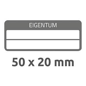 Eigentums-Etiketten, wasserfest, 50 x 20 mm, 50 Stück, schwarz AVERY ZWECKFORM 6923