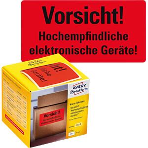 Warnetiketten, 7213, 100x50mm, neonrot AVERY ZWECKFORM 7213