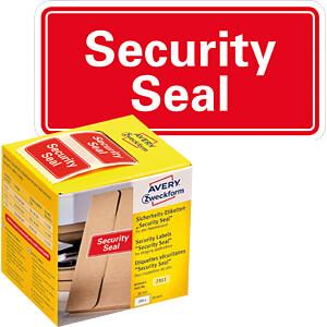 Sicherheitssiegel, 7311, 38x20mm, rot AVERY ZWECKFORM 7311