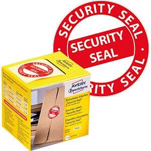 Sicherheitssiegel, 7312, Ø 38 mm, rot AVERY ZWECKFORM 7312