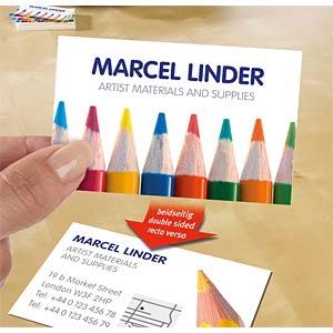 Visitenkarten, beschichtet, 250 Stück, weiß AVERY ZWECKFORM C32026-25