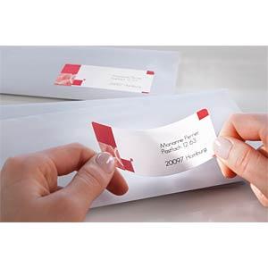 Adressetikett, Briefetiketten, 63,5 x 38,1 mm, 480 Stück, weiß AVERY ZWECKFORM J8160-25