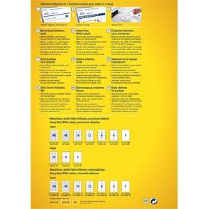 Folien-Etiketten, wasserfest, 105 x 148 mm, 80 Stück, weiß AVERY ZWECKFORM L4719-20