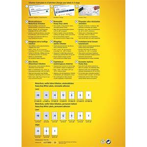 Folien-Etiketten, wasserfest, eckig, 105 x 148 mm, 80 Stück, wei AVERY ZWECKFORM L4719REV-20