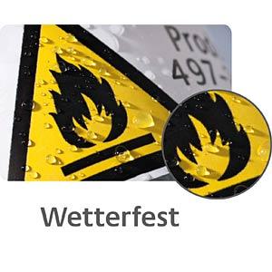 Folien-Etiketten, wasserfest, eckig, 63,5 x 33,9 mm, 192 Stück, AVERY ZWECKFORM L4773REV-8