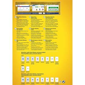 Folien-Etiketten, wasserfest, 210 x 297 mm, 8 Stück, weiß AVERY ZWECKFORM L4775-8