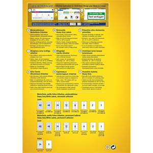 Folien-Etiketten, wasserfest, eckig, 45,7 x 21,2 mm, 384 Stück, AVERY ZWECKFORM L4778REV-8