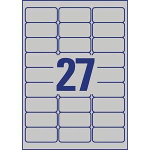 Typenschild-Etiketten, wasserfest, 63,5 x 29,6 mm, 216 Stück, si AVERY ZWECKFORM L6011-8
