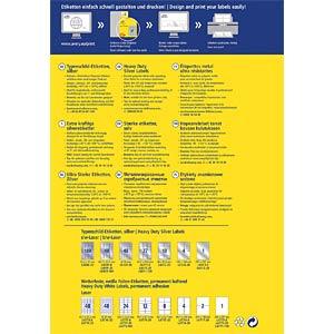 Typenschild-Etiketten, wasserfest, 210 x 297 mm, 20 Stück, silbe AVERY ZWECKFORM L6013-20