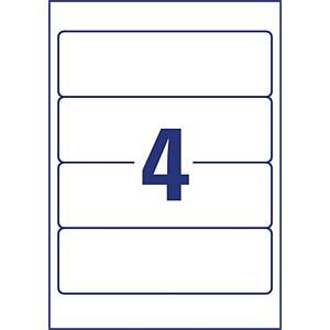 Ordner-Etiketten, 59 x 192 mm, 210 Stück, weiß AVERY ZWECKFORM L6061-25