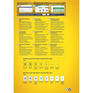 Folien-Etiketten, wasserfest, 99,1 x 139 mm, 32 Stück, gelb AVERY ZWECKFORM L6127-8