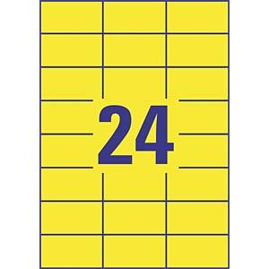 Folien-Etiketten, wasserfest, 70 x 337 mm, 480 Stück, gelb AVERY ZWECKFORM L6131-20