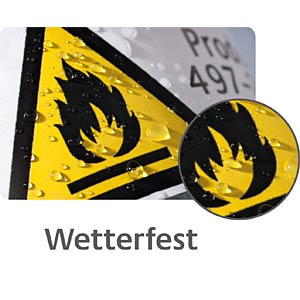 Typenschild-Etiketten, wasserfest, 70 x 37 mm, 480 Stück, silber AVERY ZWECKFORM L6133-20