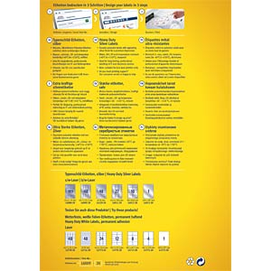 Typenschild-Etiketten, wasserfest, 105 x 148 mm, 80 Stück, silbe AVERY ZWECKFORM L6134-20