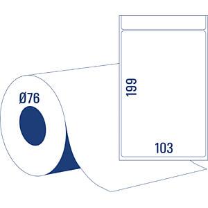 Thermotransfer Versandetikett 103x199mm AVERY ZWECKFORM TT8060-76