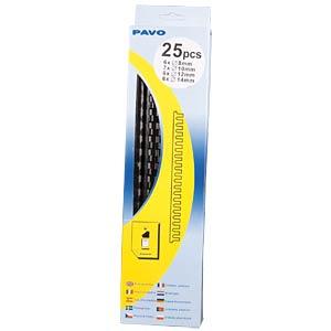 Binderücken, schwarz, sortiert PAVO 8001477