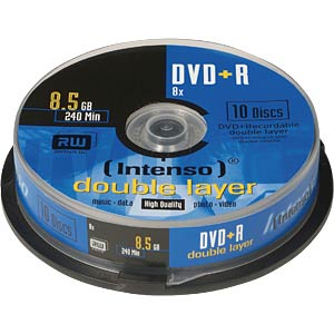 Intenso DVD+R 8,5GB, 10er Pack, DoubleLayer INTENSO 4311142