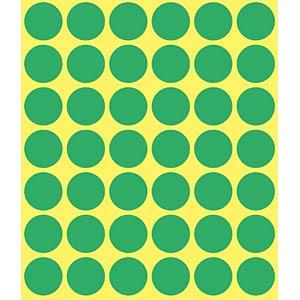 Markierungspunkte, permanent, Ø 18 mm, 1056 Stück, grün AVERY ZWECKFORM 3376