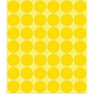 Markierungspunkte, permanent, Ø 18 mm, 1056 Stück, gelb AVERY ZWECKFORM 3377