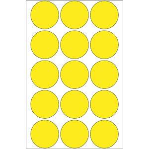 Markierungspunkte, permanent, Ø 32 mm, 480 Stück, gelb HERMA 2271