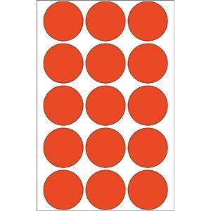 Markierungspunkte, permanent, Ø 32 mm, 480 Stück, rot HERMA 2272