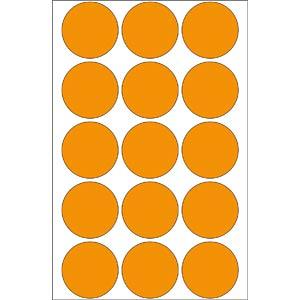Markierungspunkte, permanent, Ø 32 mm, 360 Stück, leuchtorange HERMA 2274