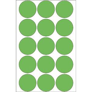 Markierungspunkte, permanent, Ø 32 mm, 480 Stück, grün HERMA 2275