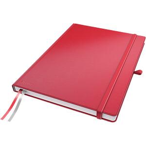 Leitz Notizbuch A4 kariert, fester Einband, rot LEITZ 44710025