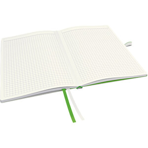 Leitz Notizbuch A5 kariert, fester Einband, weiß LEITZ 44770001