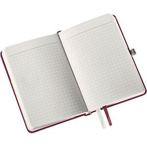 Leitz Notizbuch A6 kariert, Hardcover, rot LEITZ 44910028
