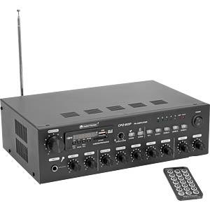 OMNI 80709703 - 4-Zonen-ELA-Mono-Mischverstärker mit MP3-Player